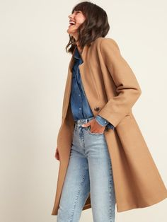 Old Navy Oversize Soft-Brushed Overcoat Old Navy Jackets, Fall Jackets, Fall Coats, Women's Jackets, Cute Coats, Cold Weather Outfits, Winter Outfits, Loungewear Set, Boyfriend Jeans