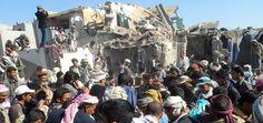 6 enfants victimes des frappes aériennes de l'Arabie saoudite au Yemen. Au moins six enfants âgés de moins de 10 ans figurent parmi les 25 victimes des frappes aériennes menées par l'Arabie saoudite contre la capitale yéménite Sanaa dans la matinée du 26 mars. http://www.amnesty.fr/Nos-campagnes/Crises-et-conflits-armes/Actualites/6-enfants-victimes-des-frappes-aeriennes-de-Arabie-saoudite-au-Yemen-14687#.VRVQ6dYyH9M.twitter