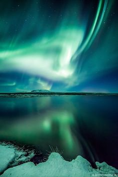 Aurora Borealis in Iceland. I want to visit different places to see the lights!  Natural beauty displayed.