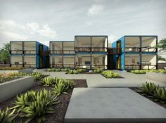 The architecture firm StarkJames LLC has designed an apartment complex made from recycled shipping containers, which is currently being built in downtown Phoenix, Arizona. #maison #container http://www.novoceram.fr/blog/architecture/construction-maison-container