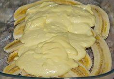 Фото к рецепту: Запечённые бананы с творогом