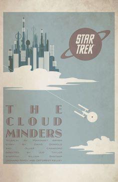 Star Trek The Original Series Juan Ortiz October Art Prints  -- The Cloud Minders