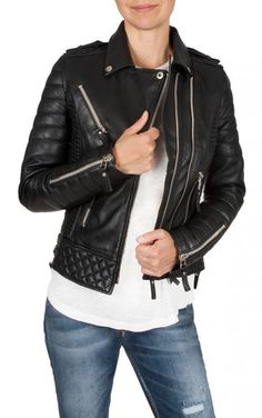 Brand New Girl's Motorcycle soft Genuine Lambskin Leather Slim fit Jacket WO 10 #WesternOutfit #Motorcycle #EveryDay