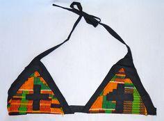 kente Cross Bikini Top by TribesOfKin on Etsy