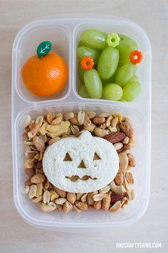 A Pumpkin Bento Halloween lunch | OneCraftyThing.com