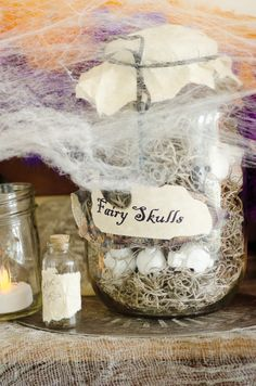 fairy skulls halloween wedding decor