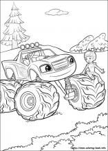 Blaze And The Monster Machines Coloring Pages Josiah Remote
