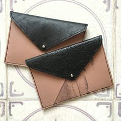 Slim Wallet Leather Card Holder/Business Card by ByLawLondon