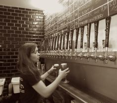 Would you travel half way across the world to drink beer directly from the brewer's tap? I did! Read on at www.beautifulfillment.com Here's a glimpse of what's in store: Mikkeller Brewery Female Bartender