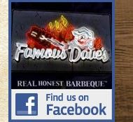 Find us on facebook at http://www.facebook.com/FamousDavesBranson
