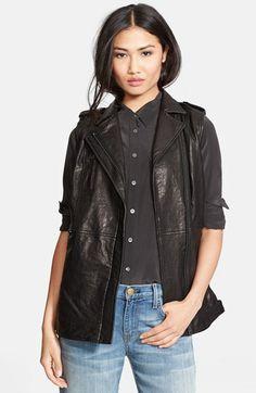 Truth & Pride 'Studied' Leather Vest.   Nordstrom