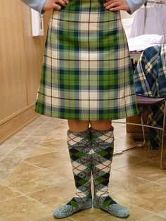 Kilt from the waist down #Sunart #Green #Tartan