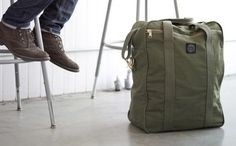 Military tents upcycled into stylish and water resistant bags