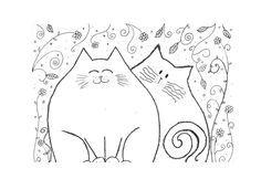 Ausmalbilder Katzen - kostenlose Malvorlagen zum Ausdrucken-dekoking-com-23