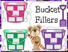 Bucket Fillers! Enter for your chance to win. Bucket Fillers For Students and Staff  (10 pages) from AJ Bergs on TeachersNotebook.com (Ends on on 05-26-2015) This giveaway is for a bulletin board bucket filler set, for supporting students and staff..