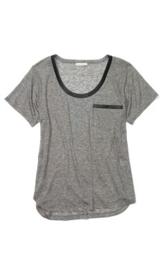 30% off $59  in gray and white  Medium if they have it, or Large if not.    Hunter Tee - Club Monaco Short Sleeve - Club Monaco