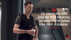 Harrison Wells: The longer you deny someone their potential, the more they're gonna look for it elsewhere. More on: http://www.magicalquote.com/series/the-flash/ #HarrisonWells #TheFlash