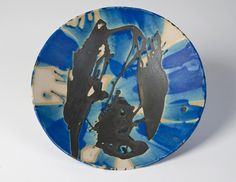Squid Bowl; stoneware with black wax resist and blue/turquoise glaze 26 cm #sarahsceramics