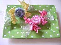 Baby Washcloth Candy ~ Each candy is made of 2 super soft baby washcloths