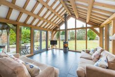 Molyneaux, exciting contemporary oak framed house with stunning interiors in Scotland, by Roderick James Architects.