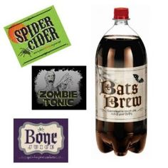 haha! Halloween drinks lables