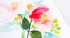 Yao Cheng teaches you how to paint gorgeous, gestural florals that reflect the vitality and energy of a freshly picked flower - Creativebug