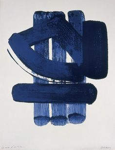 """Lithographie by Pierre Soulages which he created in Lithography is an """"offset"""" printing technique. Action Painting, Modern Art, Contemporary Art, Kiki Smith, Illustration Art, Illustrations, Franz Kline, Ouvrages D'art, Graphic"""