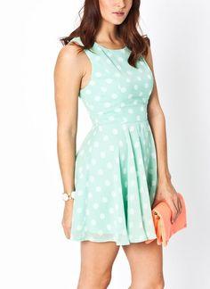 Cut-out polka dot dress | $29