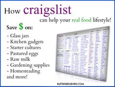 How to use Craigslist to find real food stuff and save money!