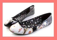 IRON FIST HOST Black MONSTER ALIEN Spider Flats Shoes