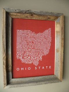 Ohio State Word Map - But I would like it more if it was an OU version :)