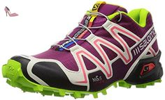 Salomon Speedcross 3, Chaussures de Trail femme, Violet, 41 1/3 - Chaussures salomon (*Partner-Link)