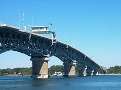 The George P. Coleman Memorial Bridge, opened in May 7, 1952 (known locally as simply the Coleman Bridge) is a double swing bridge that spans the York River between Yorktown and Gloucester Point, in the United States state of Virginia._ Oh! How I love the sight of bridges. It fosters connection. A gateway to another world. A new lease to life and love.