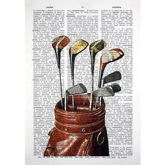 Golf Fashion Vintage for Jake - Have a sports fan in your life? This print was made using a vintage golfers image. It pairs perfectly with our other golf and sports prints. PAGE TYPES Golf Crafts, Vintage Golf Clubs, Golf Room, Best Golf Clubs, Golf Simulators, Golf Art, Golf Putters, Gifts For Golfers, Golf Fashion