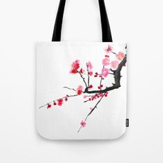 red+plum+flower++Tote+Bag+by+Color+And+Color+-+$22.00