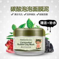 [Visit to Buy] The Little Black Pig Carbonate Bubbles Clay Mask Deep Clean And Cleaning Whitening Hydrating #Advertisement