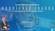 Carlos Herrera entrevista a Rodríguez Ibarra este viernes en COPE