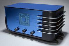 Cobalt Blue Mirror Radio