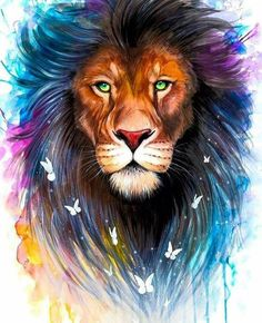 art lion lion ideas baby lions male lion lion facts lion print lion cat inspirational lion quotes pictures of lions Animal Paintings, Animal Drawings, Murciano Art, Watercolor Lion, Tattoo Watercolor, Lion Painting, Lion Wallpaper, Prophetic Art, Lion Art