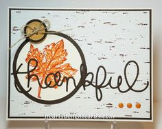 Stampin' Up! Fall Card by Cindy E at Heart's Delight Cards: