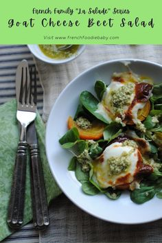 Golden Beet Warm Goat Cheese Salad, with Sorrel Almond Pesto Pesto Dressing, Baby Blog, Beets, Finger Foods, Family Meals, Real Food Recipes, Lunch, Finger Food