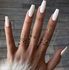 By Trend Trendy Nails M. By Trend Trendy Nails M.,Nails By Trend Trendy Nails Makeup Beauty Party Style nails art nails acrylic nails nails White Acrylic Nails, White Nail Art, Summer Acrylic Nails, Best Acrylic Nails, Acrylic Nail Designs, Matte White Nails, White Coffin Nails, Fake Nails White, Marble Nails