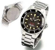 Steinhart OCEAN One VINTAGE Red Diver Watch