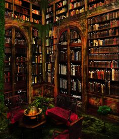 Impressive Home Library Design Ideas Library Room, Dream Library, Library Corner, Magical Library, Hogwarts Library, Casa Top, Library Pictures, Beautiful Library, Home Libraries