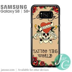 ed hardy tattoo the world Phone Case for Samsung Galaxy S8 & S8 Plus