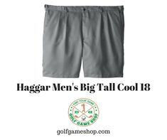 Cool 18 big and tall expandable waist pleat front solid gabardine short. Shop now! Mens Big And Tall, Big & Tall, Golfers, Golf Shirts, Shop Now, Cool Stuff, Shopping, Game, Fashion