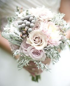 Bouquets of flowers have always been one attraction at any wedding. Bouquets are already part of the wedding tradition on all races. A bouquet of flowers symbolizes a blossoming maiden and reflects her emotions.Therefore, wedding bouquets should be. Bouquet Bride, Wedding Bouquets, Wedding Dresses, Hand Bouquet, Dusky Pink Bridesmaid Dresses, Bridesmaids, Pastel Dresses, Bridesmaid Bouquets, Winter Floral Arrangements