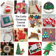 Bugs and Fishes by Lupin: The Crafty Christmas Tutorial Link-Up: Lots of Free Christmas Tutorials!