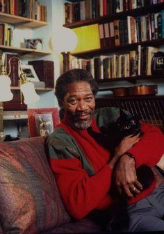 Morgan Freeman ed il Suo Gatto