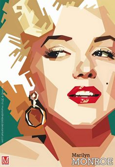 Marilyn Monroe by Mursyidinejad // This image first pinned to Marilyn Monroe art board here: https://www.pinterest.com/fairbanksgrafix/marilyn-monroe-art/ #Art #MarilynMonroe